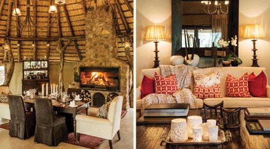 Dulini main lounge and dining room. Dulini Safari Lodge is located in the Sabi Sand Game Reserve