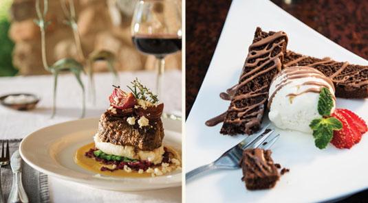 Food served at Dulini Safari Lodge. Dulini is located in the Sabi Sand Game Reserve