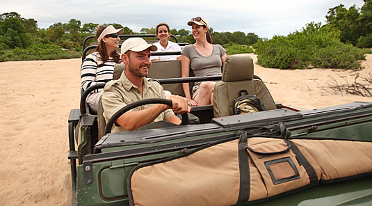 Enjoy daily big 5 game drives at Leadwood Lodge in the Sabi Sand Private Game Reserve located in South Africa
