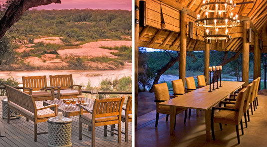 Leadwood Lodge Deck Dining Sabi Sand Dulini Private Game Reserve Safari Game Lodge Accommodation Bookings