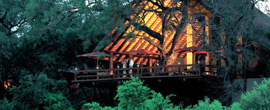 View of Main Lodge at Varty Camp, Londolozi Private Game Reserve, Sabi Sand Private Game Reserve