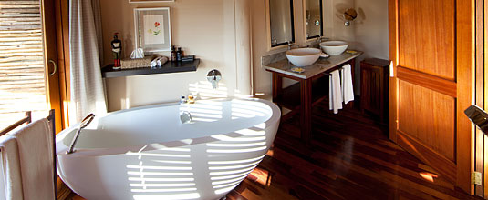 The Elephant Room Bathroom at Safari Lodge, Ulusaba Private Game Reserve located in the Sabi Sand Private Game Reserve