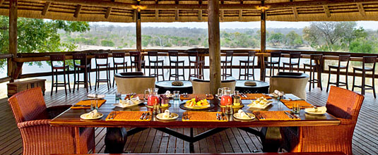 Safari Lodge's Tree House Dining Area at Ulusaba Private Game Reserve - Sabi Sand Private Game Reserve