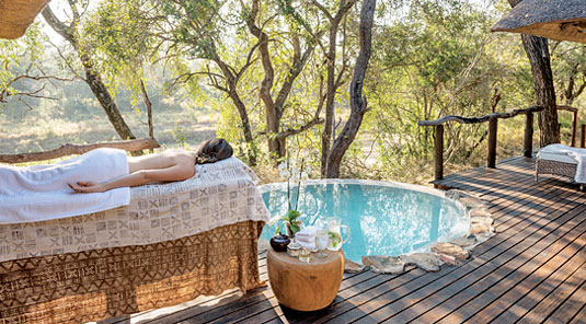 Spa Massage Dulini luxury suite Safari Lodge Sabi Sand Game Reserve South Africa Luxury Safari Lodge Bookings