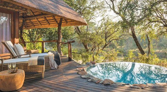 suite private deck Dulini Safari Lodge Sabi Sand Game Reserve South Africa Luxury Safari Lodge Bookings