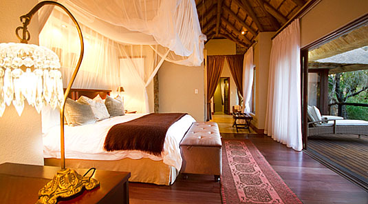 Luxury Suite bedroom deck Dulini Safari Lodge Sabi Sand Game Reserve South Africa Luxury Safari Lodge