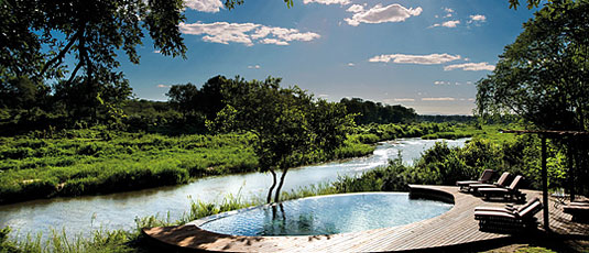 Main Lodge Swimming Pool Lion Sands Tinga Lodge Sabi Sand Private Game Reserve Accommodation Booking