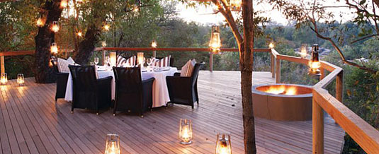 Dining Deck Boma Dinner Accommodation Pioneer Camp Londolozi Private Game Reserve Sabi Sand Private Game Reserve Accommodation Booking