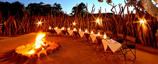 Boma Dining,Bush Dinner,Nkorho Bush Lodge,Sabi Sands Private Game Reserve,Kruger National Park,Accommodation Booking