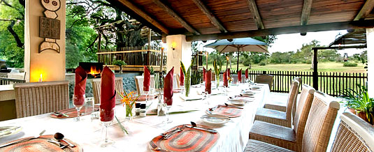 Out-side dining area,Notten's Bush Camp,Nottens Private Game Reserve,Sabi Sands Game Reserve,Accommodation bookings