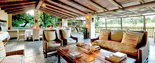 Open-plan lounge,dining area,wooden deck,Nottens Bush Camp,Nottens Private Game Reserve,Sabi Sands Game Reserve,Accommodation bookings