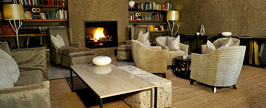 Earth Lodge Main Lodge Lounge Fireplace Luxury Accommodation Sabi Sabi Private Game Reserve Sabi Sands Reserve