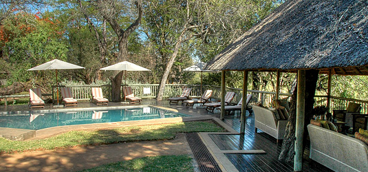 Sabi Sabi Selati Camp Swimming pool Deck Luxury Accommodation Sabi Sabi Private Sabi Sands Reserve Lodge bookings
