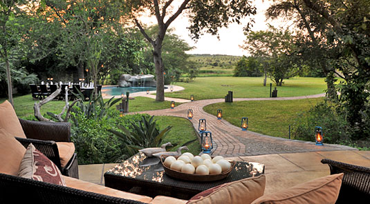 Main Lodge Garden swimming pool Luxury Accommodation Savanna Private Game Reserve Sabi Sands Reserve Accommodation bookings
