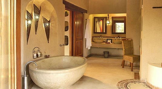 Simbambili Game Lodge Sabi Sands Luxury Private Suite bathroom Luxury Accommodation Sabi Sands Reserve Accommodation bookings