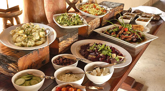Lunch Meals served Sabi Sands Luxury Safari Lodge Simbambili Game Lodge Bookings Luxury Accommodation bookings Sabi Sands Reserve
