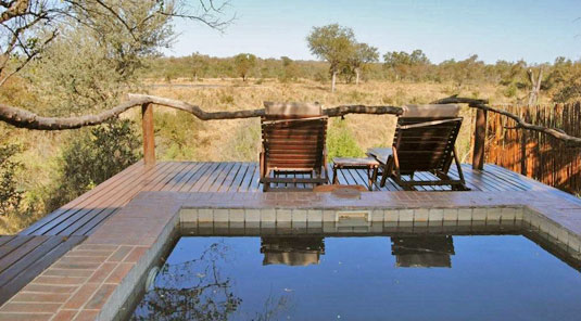 Simbambili Game Lodge Sabi Sands Private Suite plunge pool Luxury Accommodation Sabi Sands Reserve Accommodation bookings