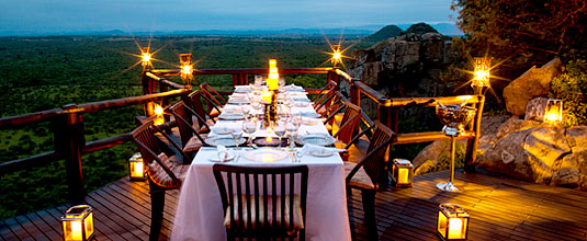 Ulusaba Dining Deck Ulusaba Private Game Reserve Sabi Sand Private Game Reserve